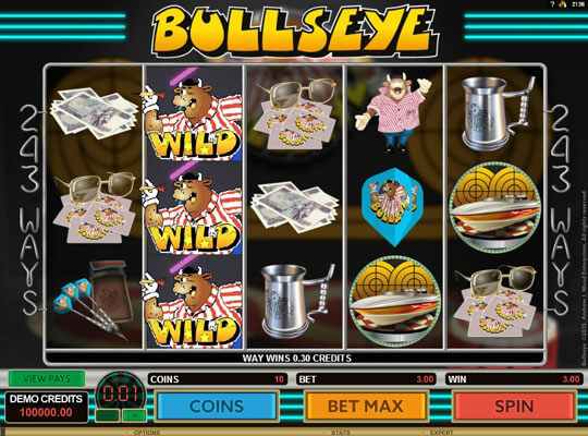 Bulls Eye Online Casino Pokies With Classic Theme